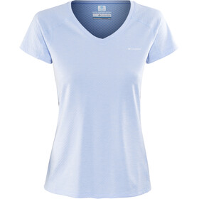 Columbia Zero Rules Camisa Manga Corta Mujer, sail heather